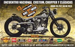 13th Classic & Custom Bike Week Medellín 2013
